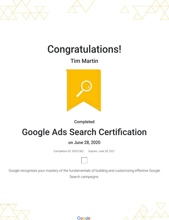 Google Ads Certified Professional photo